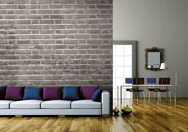 Charcoal Brick Wallpaper