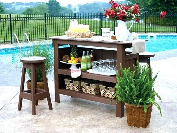 Outdoor Bar by the Pool
