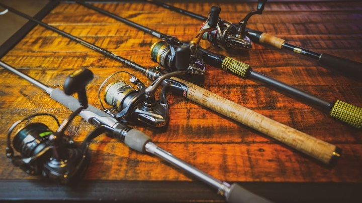 4 different fishing rods