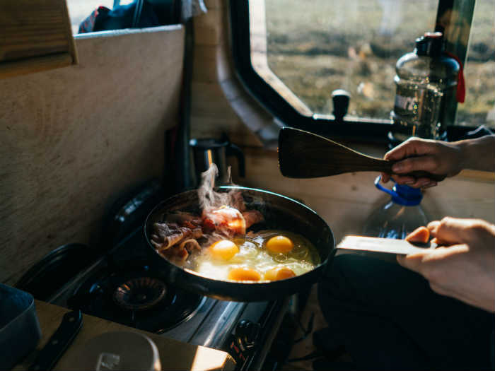 camping food preparation