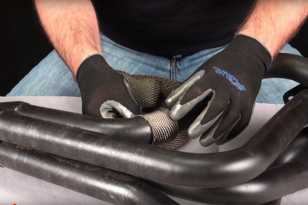 installing header exhaust wrap