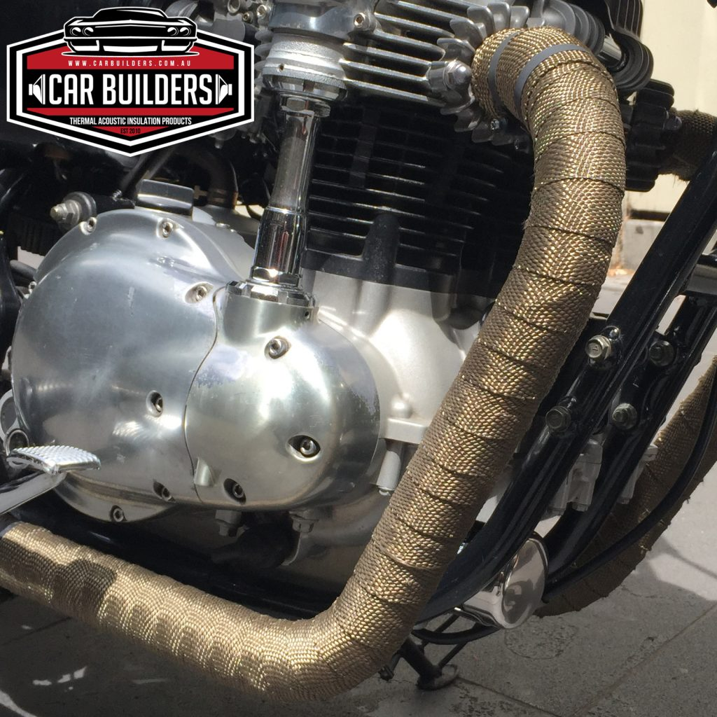 motorcycle exhaust wrap system