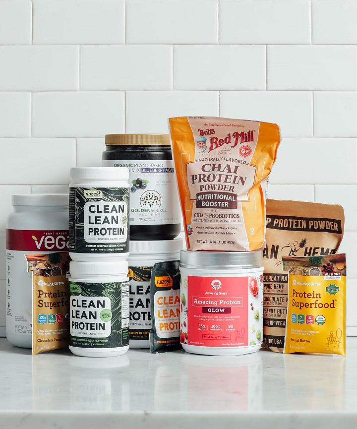Flavoured vegan protein supplements