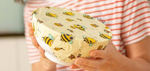 Wrapping a bowl with beeswax wrap