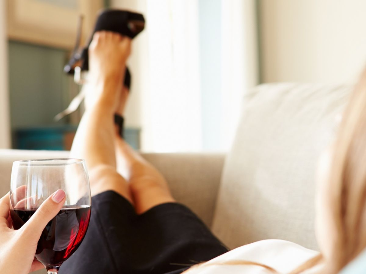 glass of wine relaxation