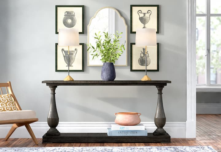 console+table living room