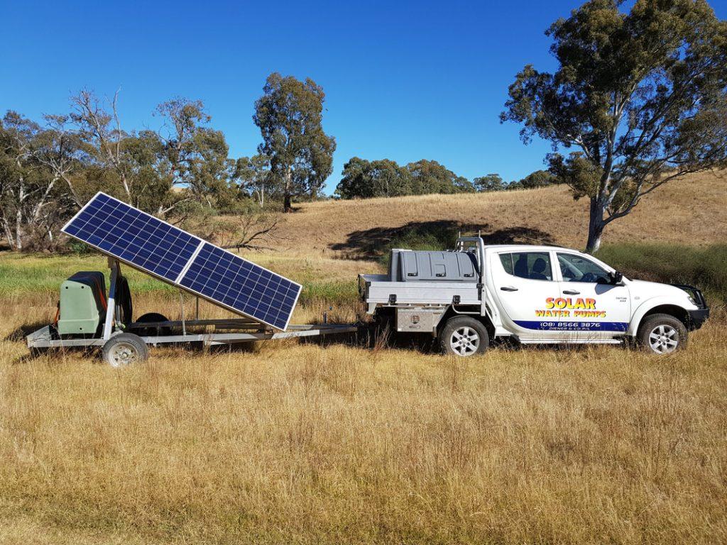 solar water pump trailer