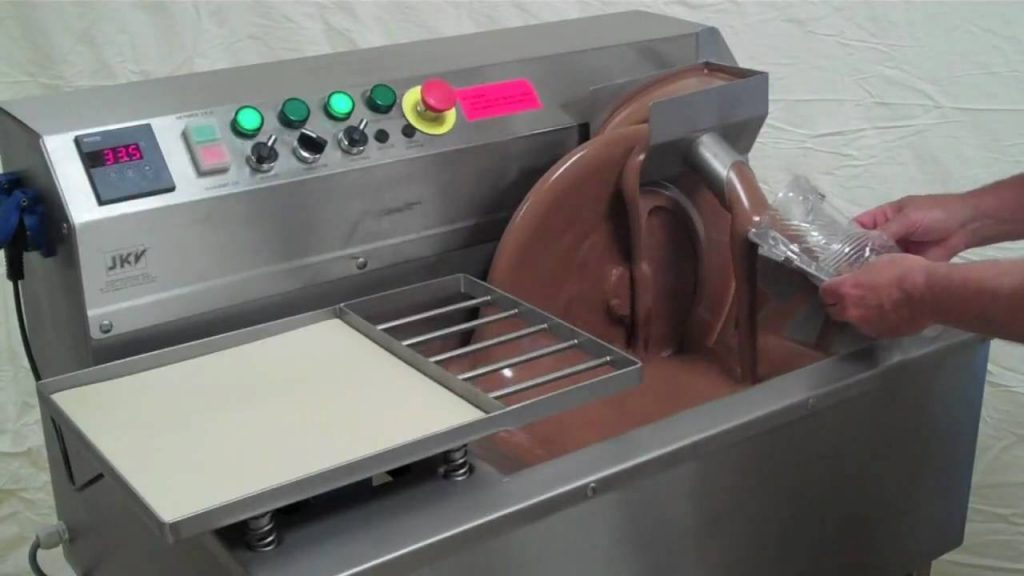 tempering machine and moulding chocolate