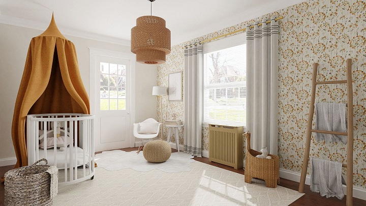Natural materials in nursery