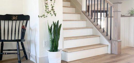vinyl floring hallway and stairs