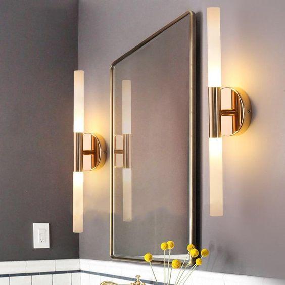 bedroom mirror wall lights